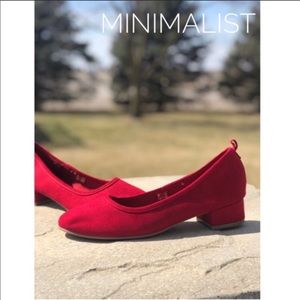 Shoes - Red Minimalist Heels